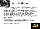 Presentation on grime music genre