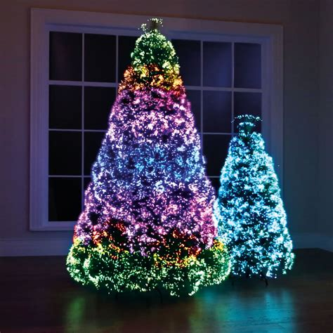 the northern lights christmas trees hammacher schlemmer
