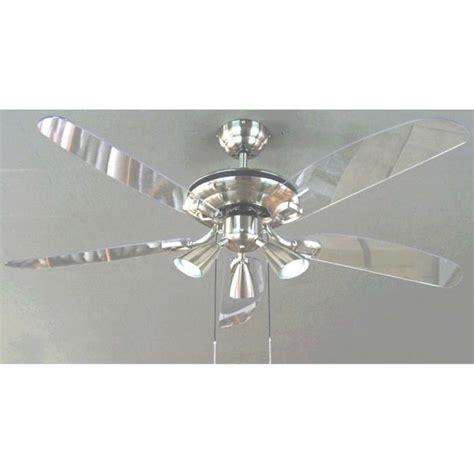 ventilateur cuisine ventilateur de plafond nuage ø 132 cm coloris chrome