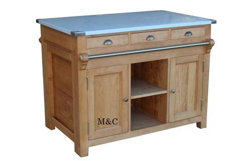 meuble cuisine central ilot central en bois massif