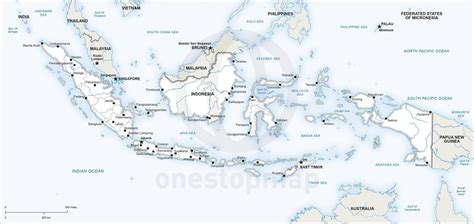 vector map  indonesia political  stop map