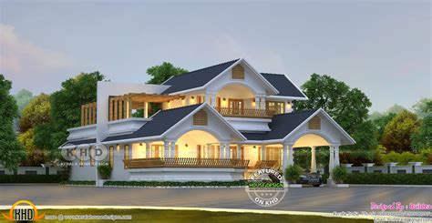 Traditional A Frame Home With Contemporary Style by Traditional Contemporary House 2562 Sq Ft Kerala Home