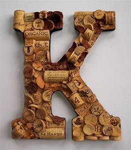 Wine cork letter k cool crafts pinterest for Wine cork letter k