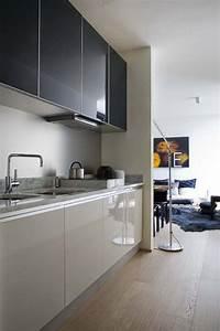 Muebles, De, Cocina, En, Dos, Colores