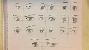 How to Draw Anime Boy Eyes [10 Ways] [No Timelapse] - YouTube
