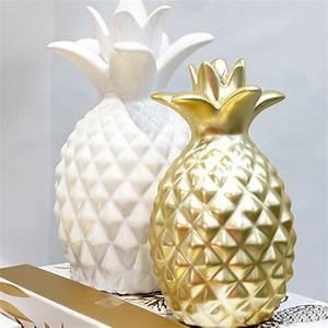 Ananas Deco Blanc : ananas blanc c ramique 16x28cm ~ Teatrodelosmanantiales.com Idées de Décoration