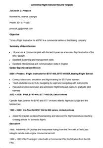 flight instructor resume template how to make a resume template