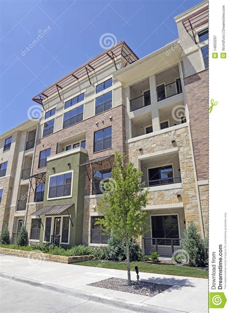 Modern Brick Apartment Building Royalty Free Stock