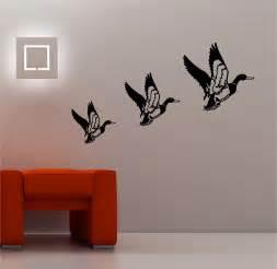 3 x retro flying ducks wall sticker vinyl lounge kitchen ebay