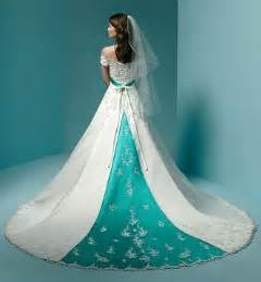 colored wedding dress wedding gowns with color accents