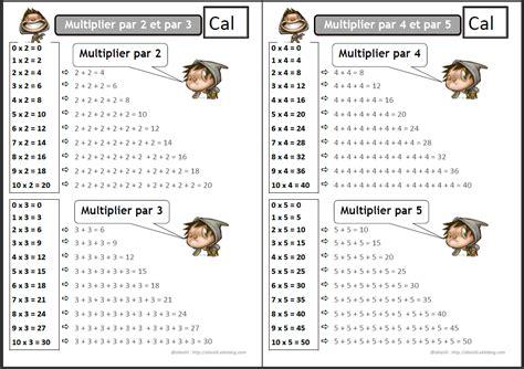 comment apprendre les tables de multiplication ce1