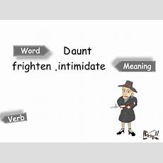 Daunt Meaning Youtube