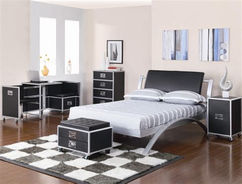 leclair  piece black  metal youth bedroom set