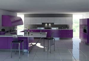 Designs Of Kitchen Furniture Purple Kitchens