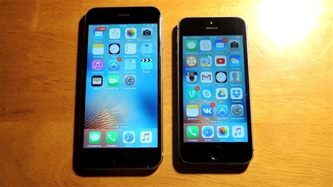 iphone 5s vs 6s iphone 6s vs iphone 5s ios 9 2 iphone 6s против iphone