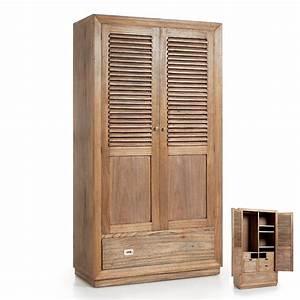 Armoire Penderie Bois Massif : armoire penderie bilbao mindy d coration exotique chambre ~ Melissatoandfro.com Idées de Décoration