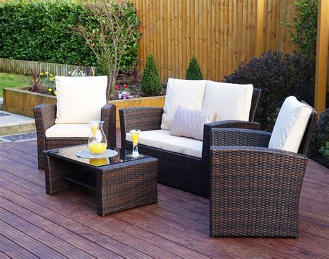 Garden Patio Furniture Sets by 4 Algarve Rattan Sofa Set For Patios Conservatories