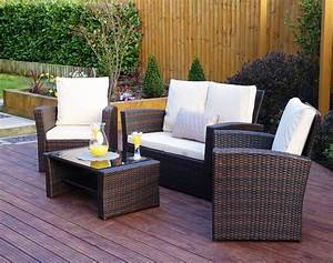 Rattan Lounge Set : 4 piece algarve rattan sofa set for patios conservatories and terraces ~ Orissabook.com Haus und Dekorationen