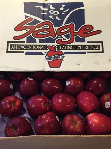 Sage brand apples. Taste tested. What the box says is true ...