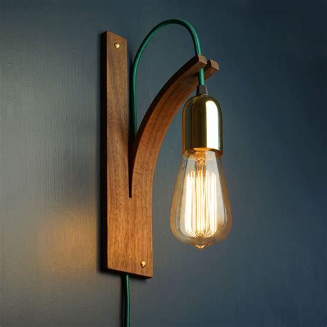 appliques chambre walnut bracket wall light by layertree on etsy
