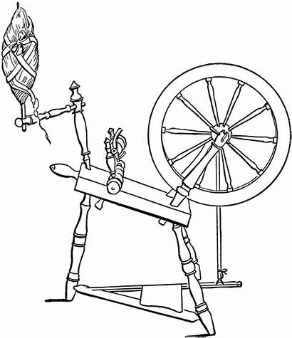Clipart Spinning Wheel Diagram Drawing Spin Spindle