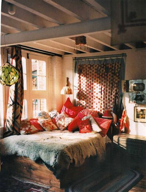 boho chic bedroom bohemian decor inspiration hippie chic homes feng shui Rustic