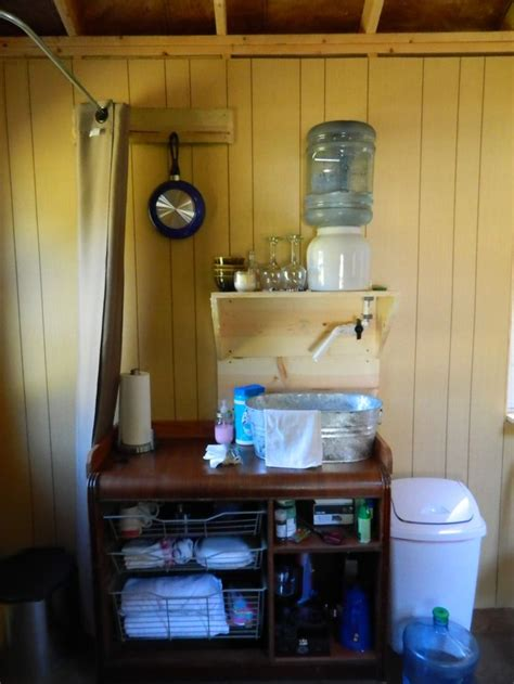 sink  running water  tiny house    creative tiny house bathroom dry cabin