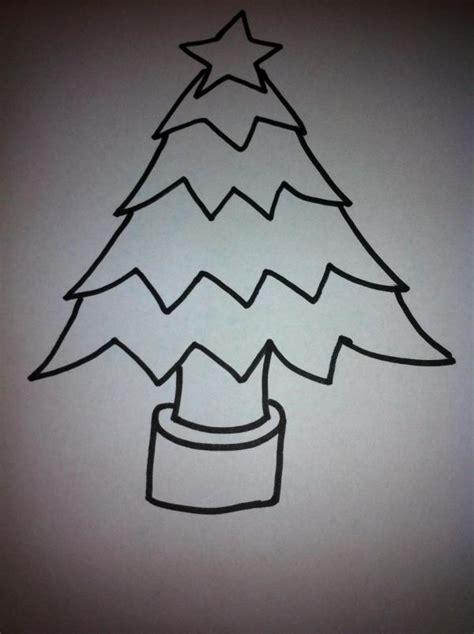 como dibujar  arbol de navidad  pasos