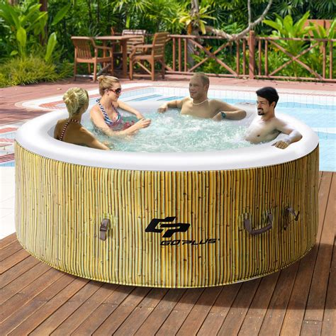 Outdoor Tubs For Sale by Costway Goplus 4 Person Tub Outdoor Jets