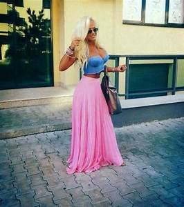 Skirt summer spring cute pretty girly tumblr fashion beautiful maxi skirt outfit cute ...