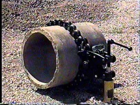 6 sewer pipe wheeler rex 3890 hydraulic pipe cutter