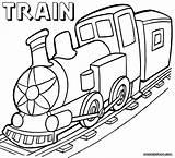 Train Coloring sketch template