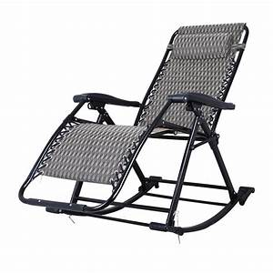 Portable, Folding, Lounge, Chair, Comfortable, Relax, Rocking, Chair, Relax, Chair, With, Cotton, Fabric