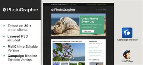 photographer email templates free html email template photographer free mail templates