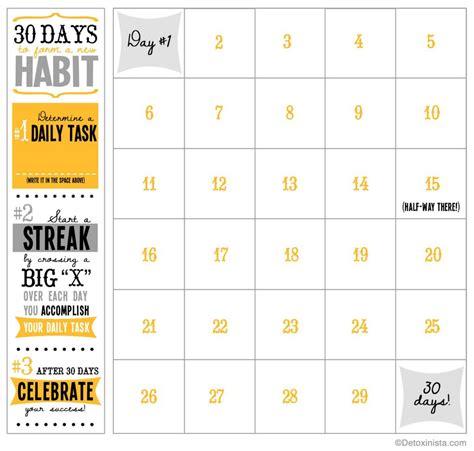 day printable calendar detoxinista