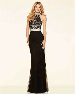 Beaded Black Evening Dress Mermaid Lace Prom Party Dresses ...