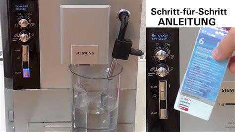 siemens eq5 entkalken anleitung kaffeevollautomaten guide