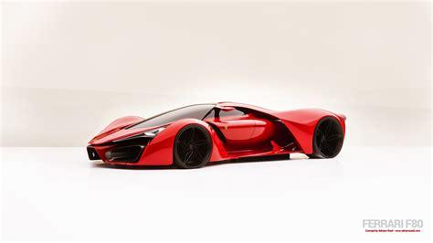 concept cars ferrari  ferrari concept art red cars