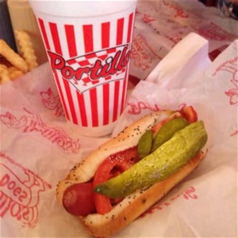 portillos hot dogs chicago dog  chocolate cake shake