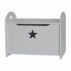 Banc Coffre Bois : banc coffre jouet en bois star gris kid 39 s concept decoclico ~ Teatrodelosmanantiales.com Idées de Décoration