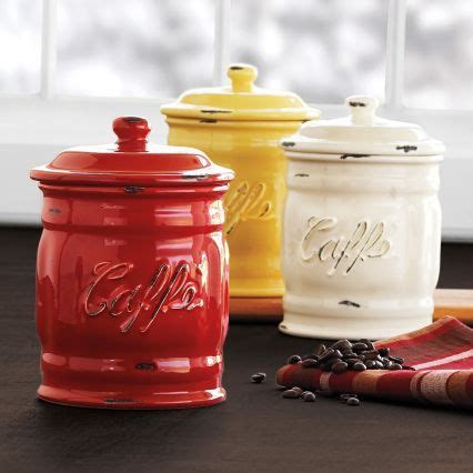 italian canisters kitchen italian ceramic coffee canisters sur la table