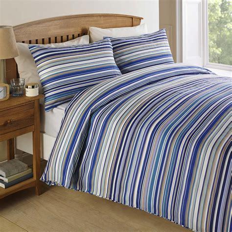 blue striped bedding sets modern simple white blue