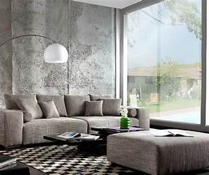 Xxl Sofa Mit Hocker : couch marbeya hellgrau 290x110 cm mit schlaffunktion hocker ~ Bigdaddyawards.com Haus und Dekorationen