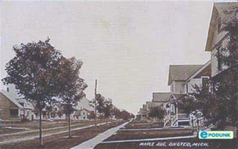 onsted michigan village information epodunk