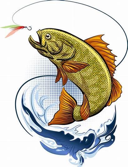 Fish Fishing Hook Jumping Water Bait Vector