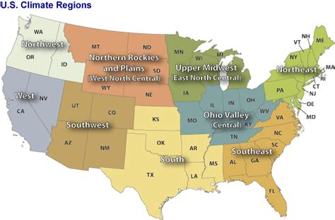 Us Climate Regions Monitoring References National