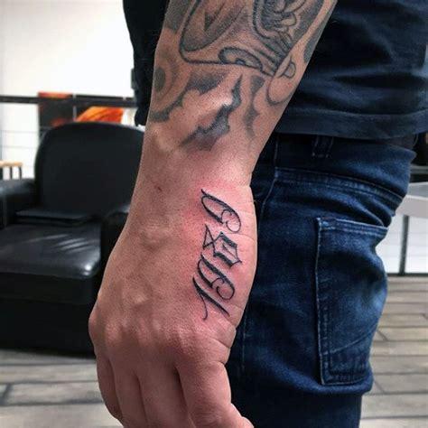 number tattoos  men numerical ink design ideas