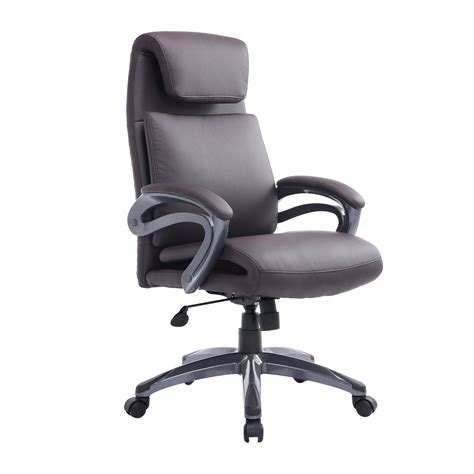 Office Chairs With Lumbar Support by Homcom Office Chair Back Support Ergonomic Air Lumbar Pu