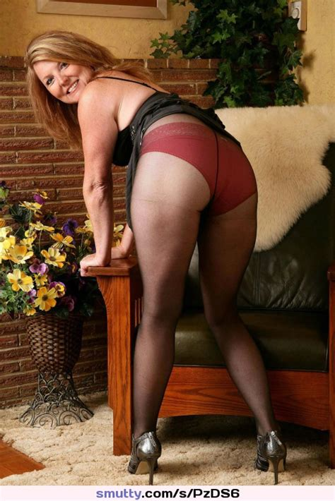Milf Panties Stockings Ass Cougar Pantyhose Skirt