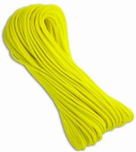 Neon Yellow Nylon Braided 550 Cord Paracord 100 Bladeplay